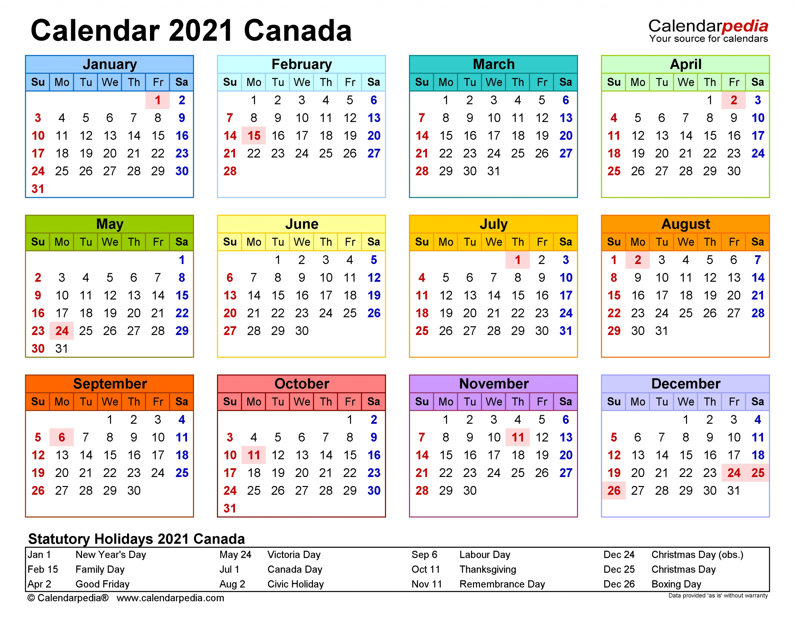 Get Christmas Calendar Template 2021