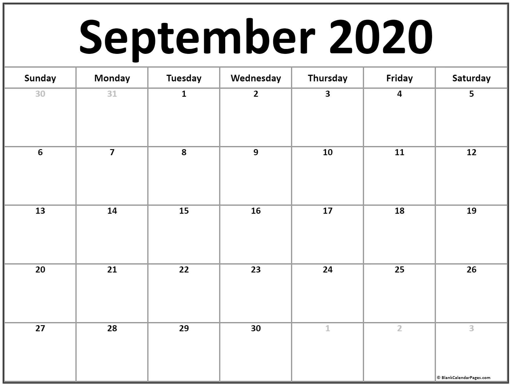 Get Clip Art Calendar Page Septeber 2021