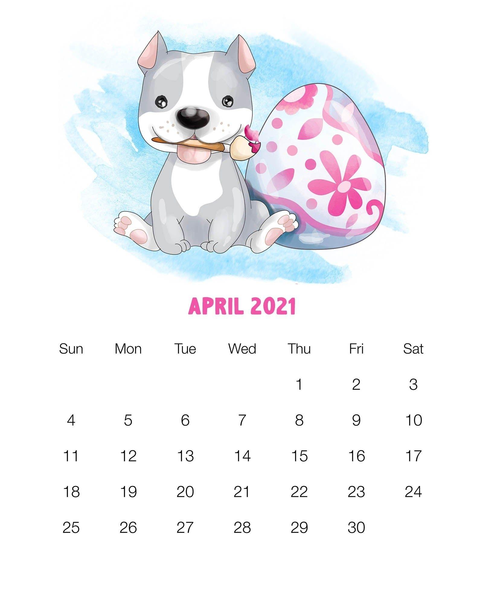 Get Cute August 2021 Pig Calendar Printable
