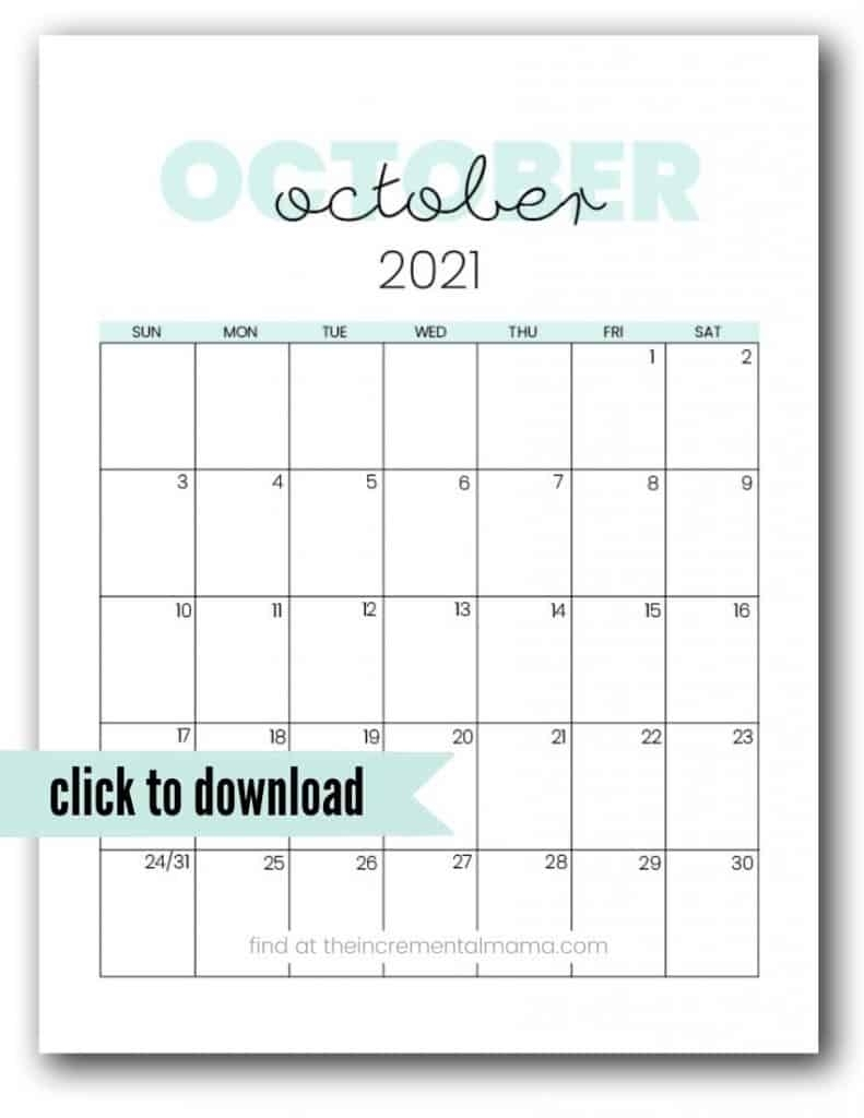 Get Cute Free Printable Calendars 2021