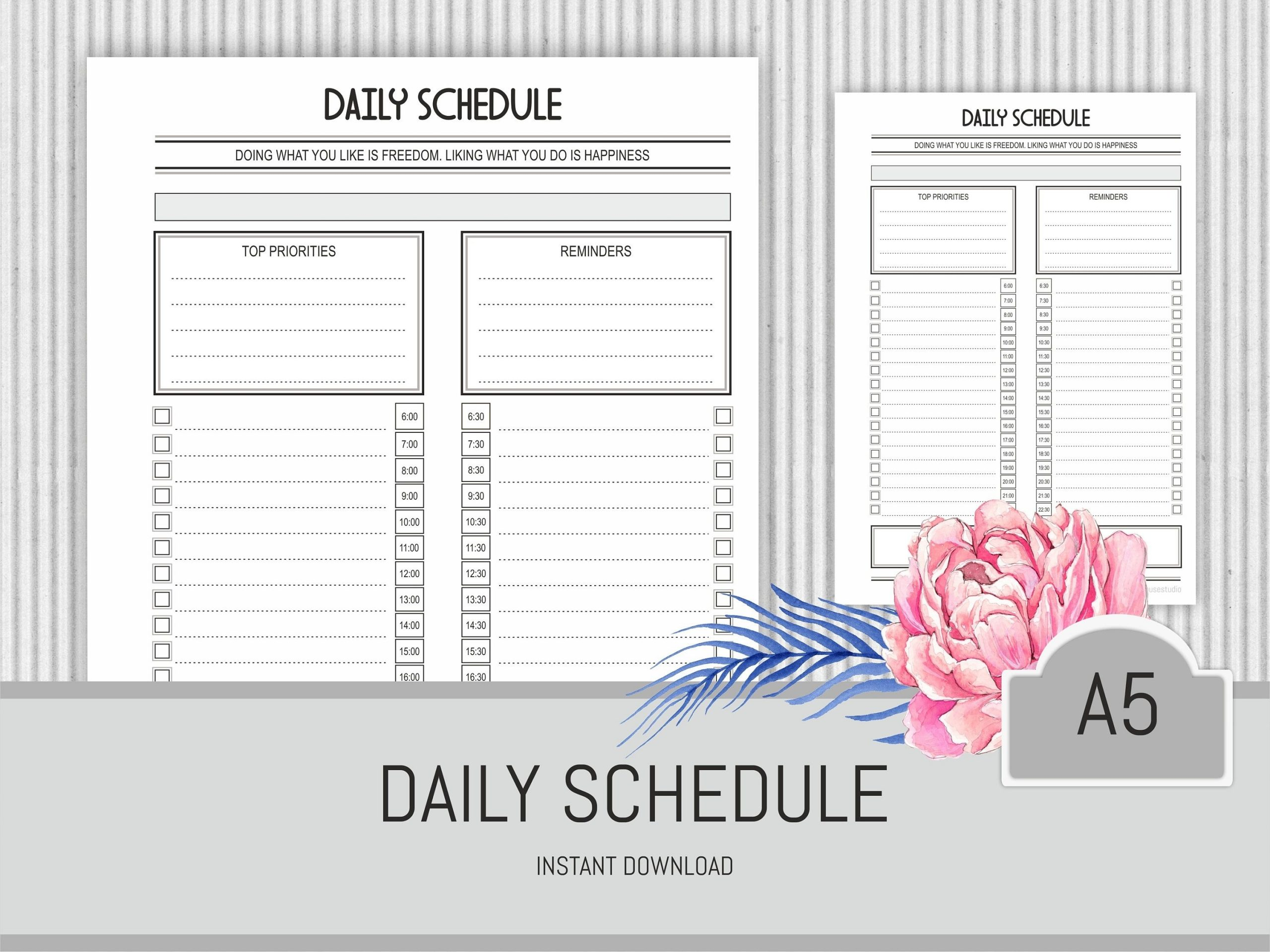 Get Daily Schedule By Half Hour