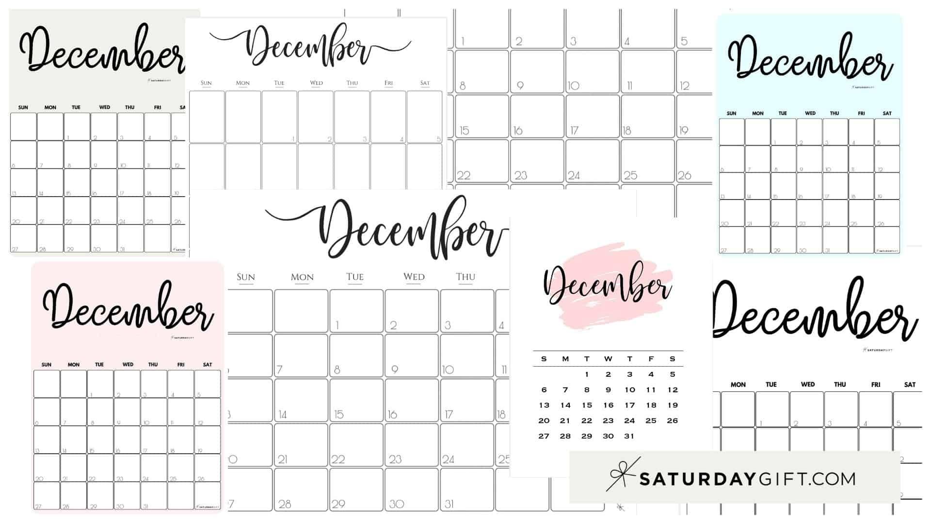 Get December 2021 Calendar Girly