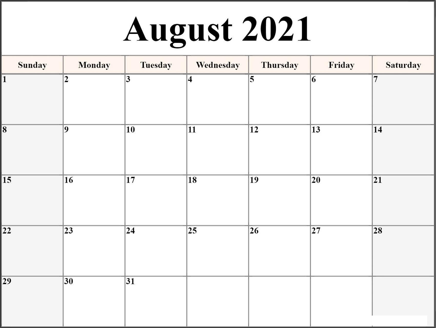 Get Downloadable Calendar 2021 Word