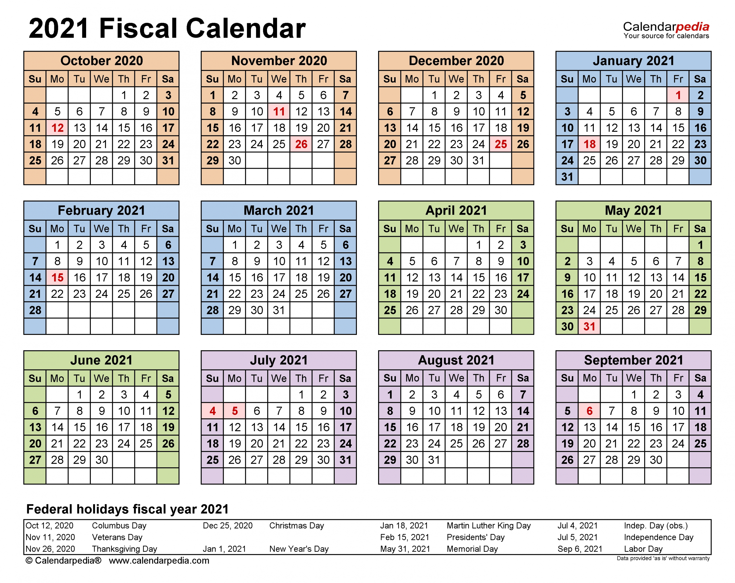 Get Federal Pay Periods 2021