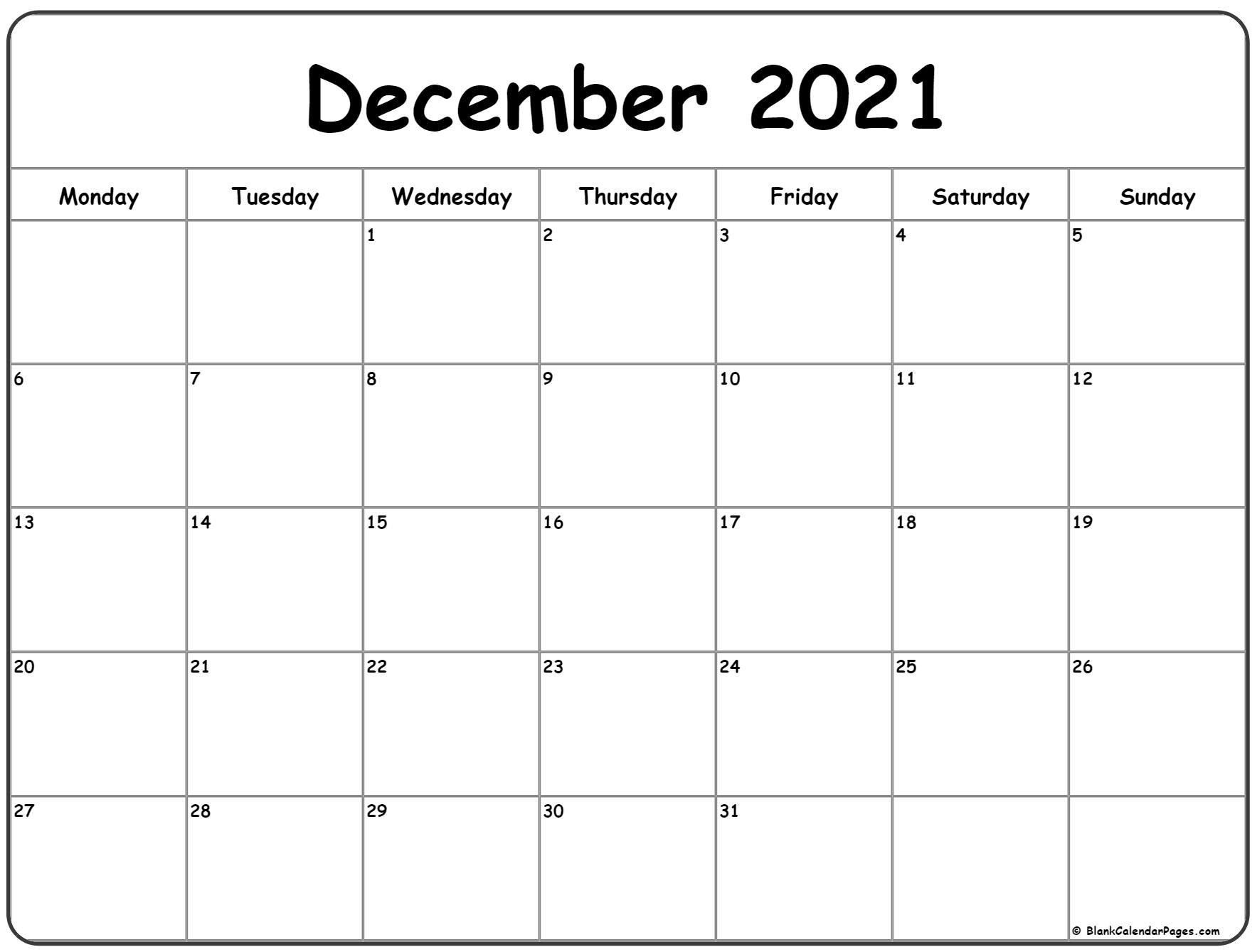 Get Fill In December 2021 Calendar