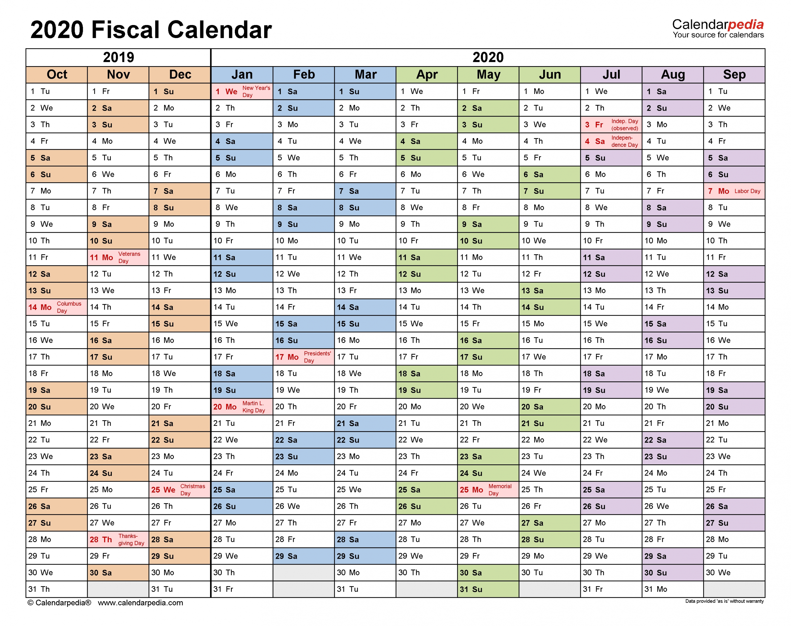 Get Financial Week Calendar