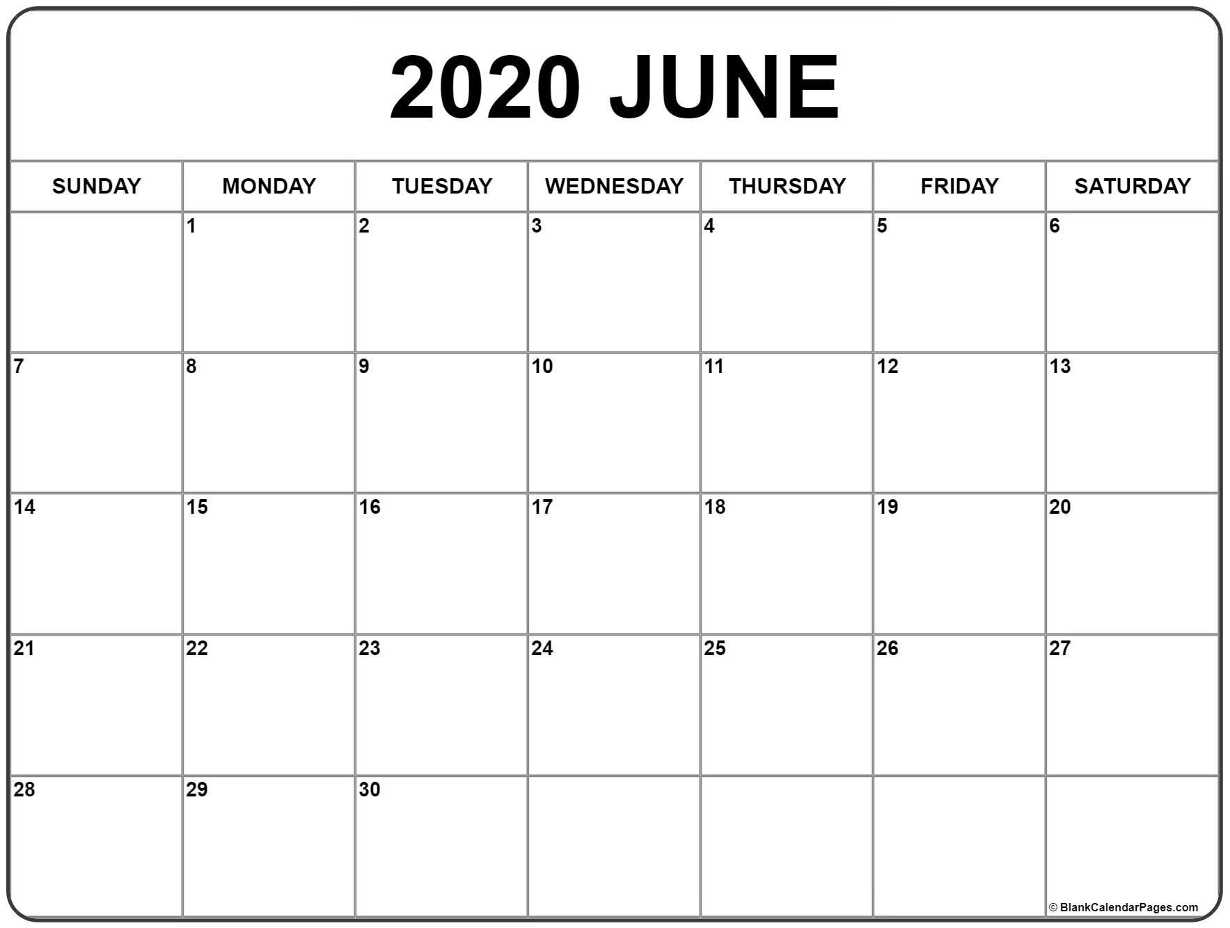 Get Free Blank Calendar Printable