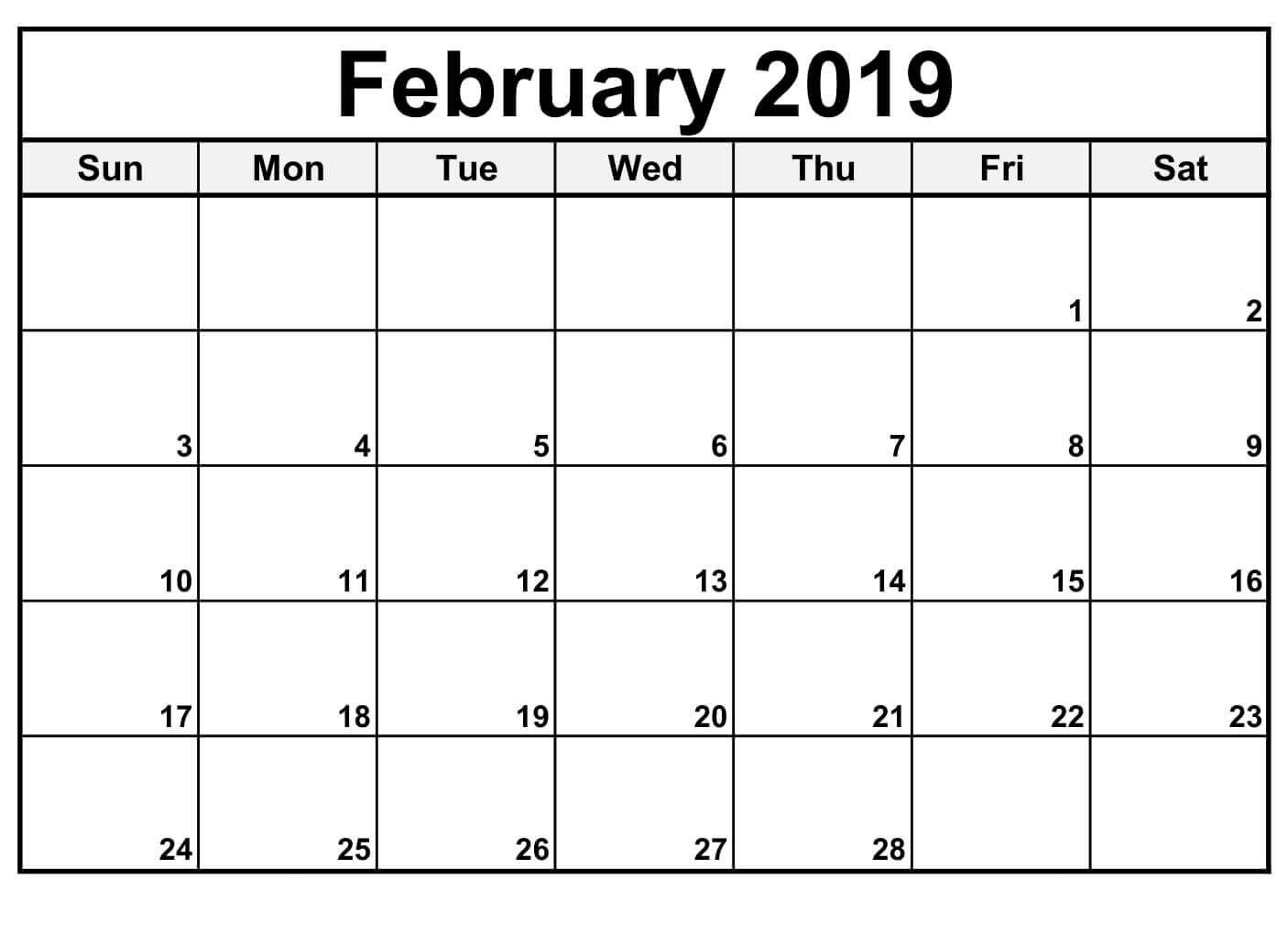 Get Free Editable Blank Calendar