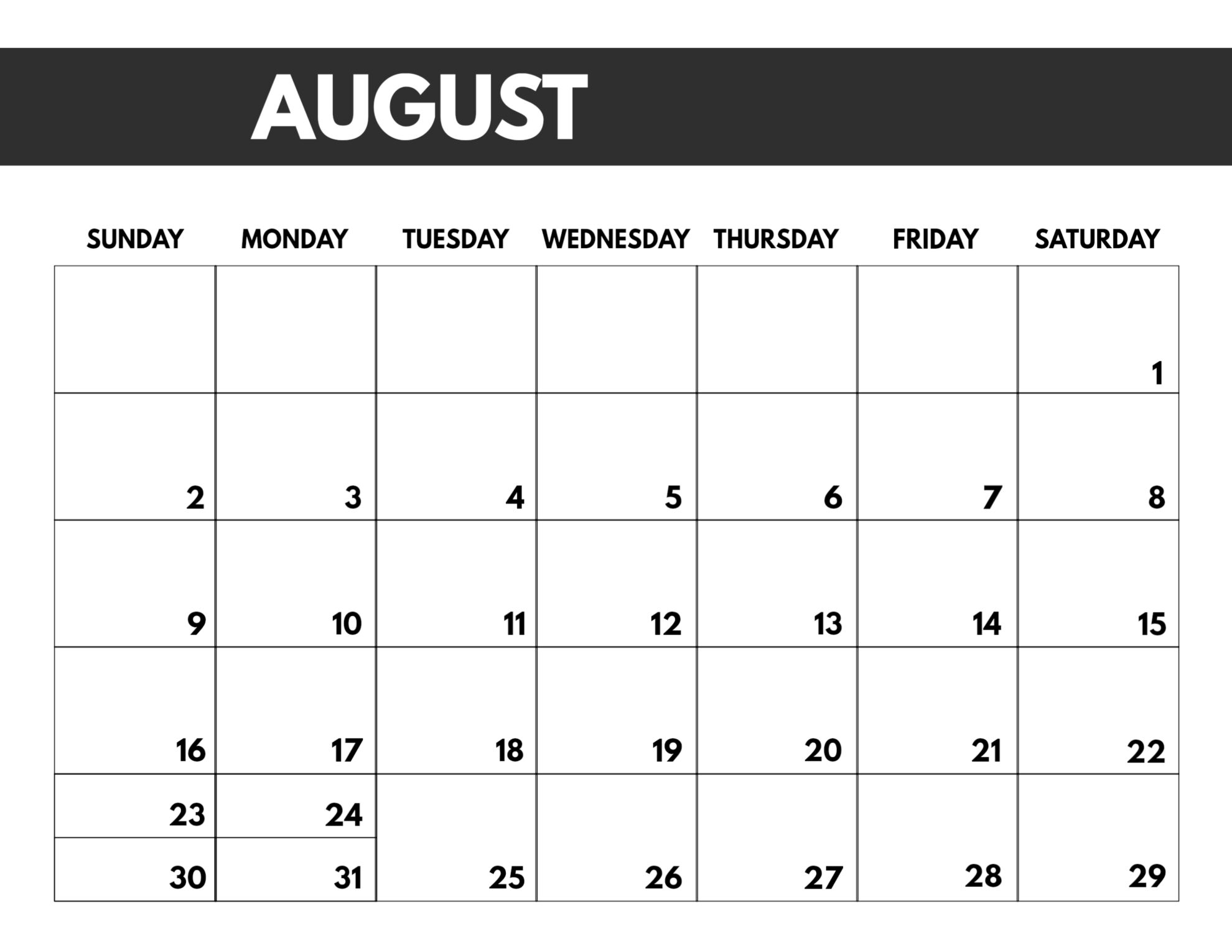 Get Free Monthly Calendar Printable And Editable