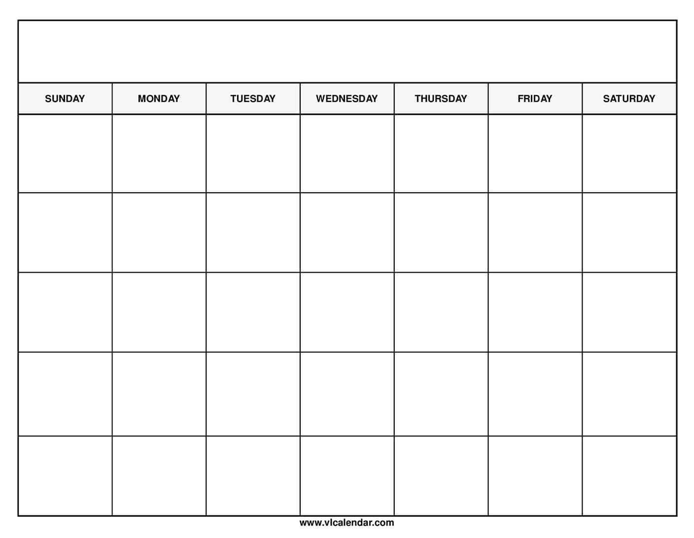 Get Free Printable Blank Calendar Template