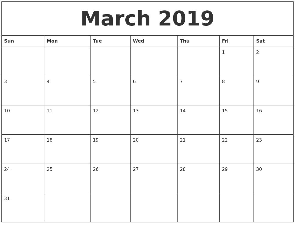 Get Free Printable Calendar Without Download