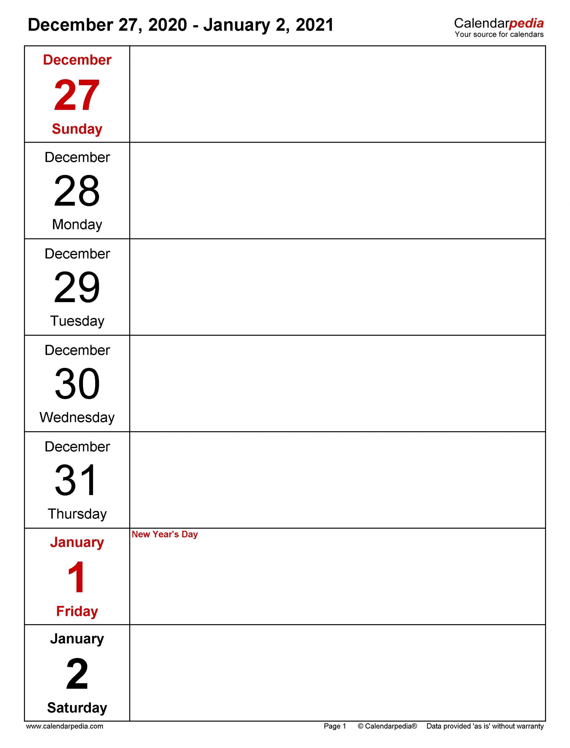 Get Free Printable Weekly Calendar With Time Slots 2021