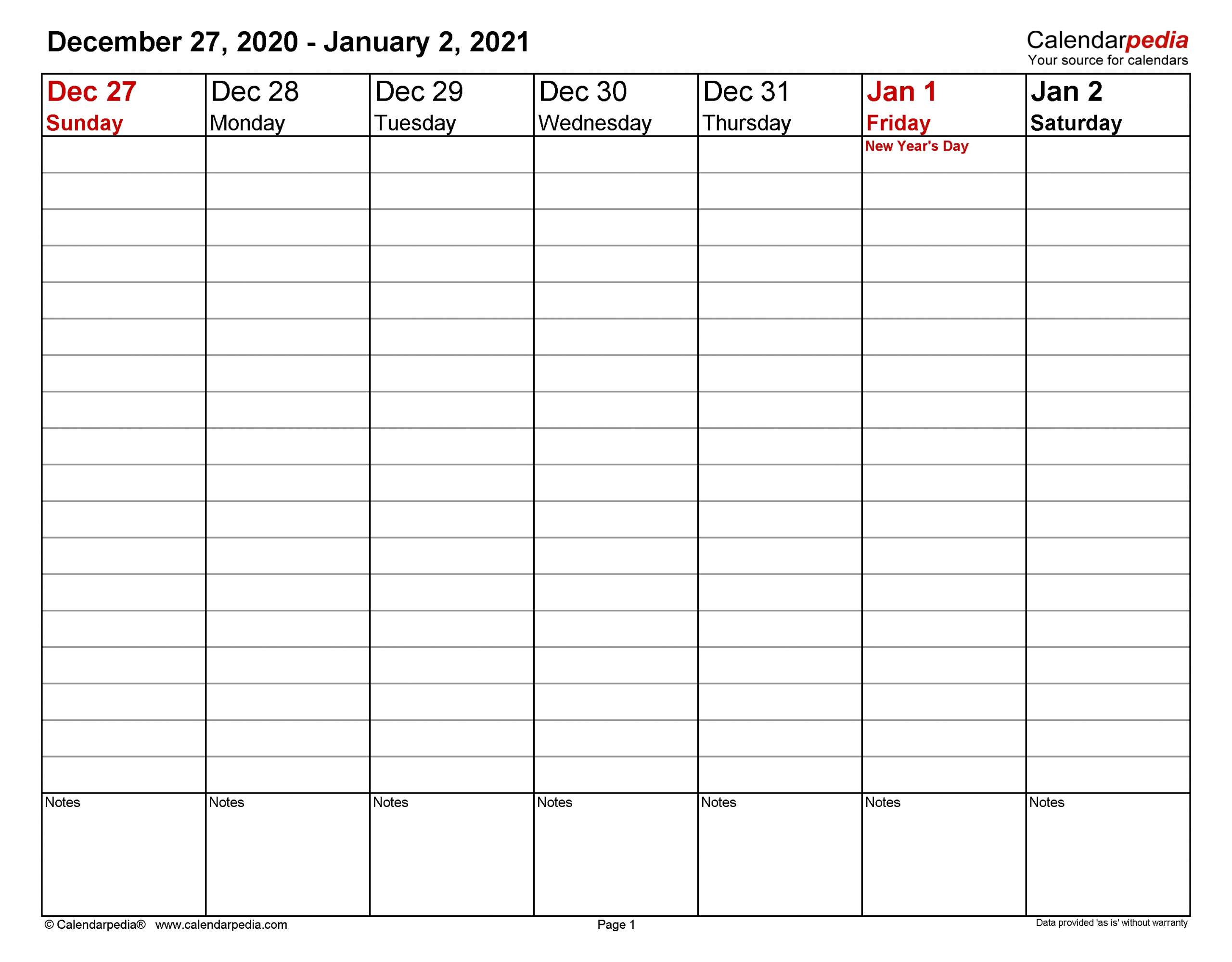Get Free Printable Weekly Calendar With Time Slots 2021