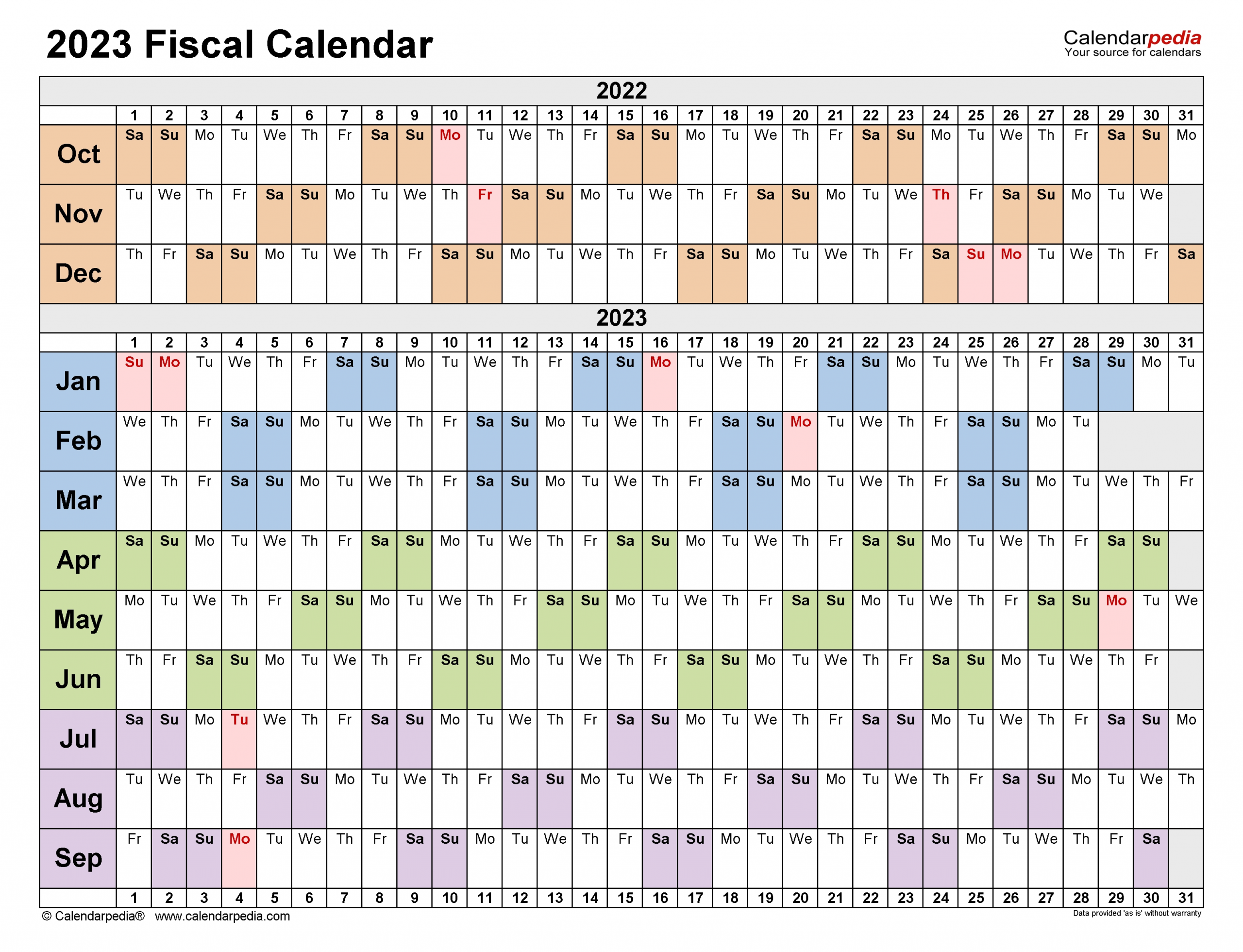 Get Government 2023 Fiscal Calendar