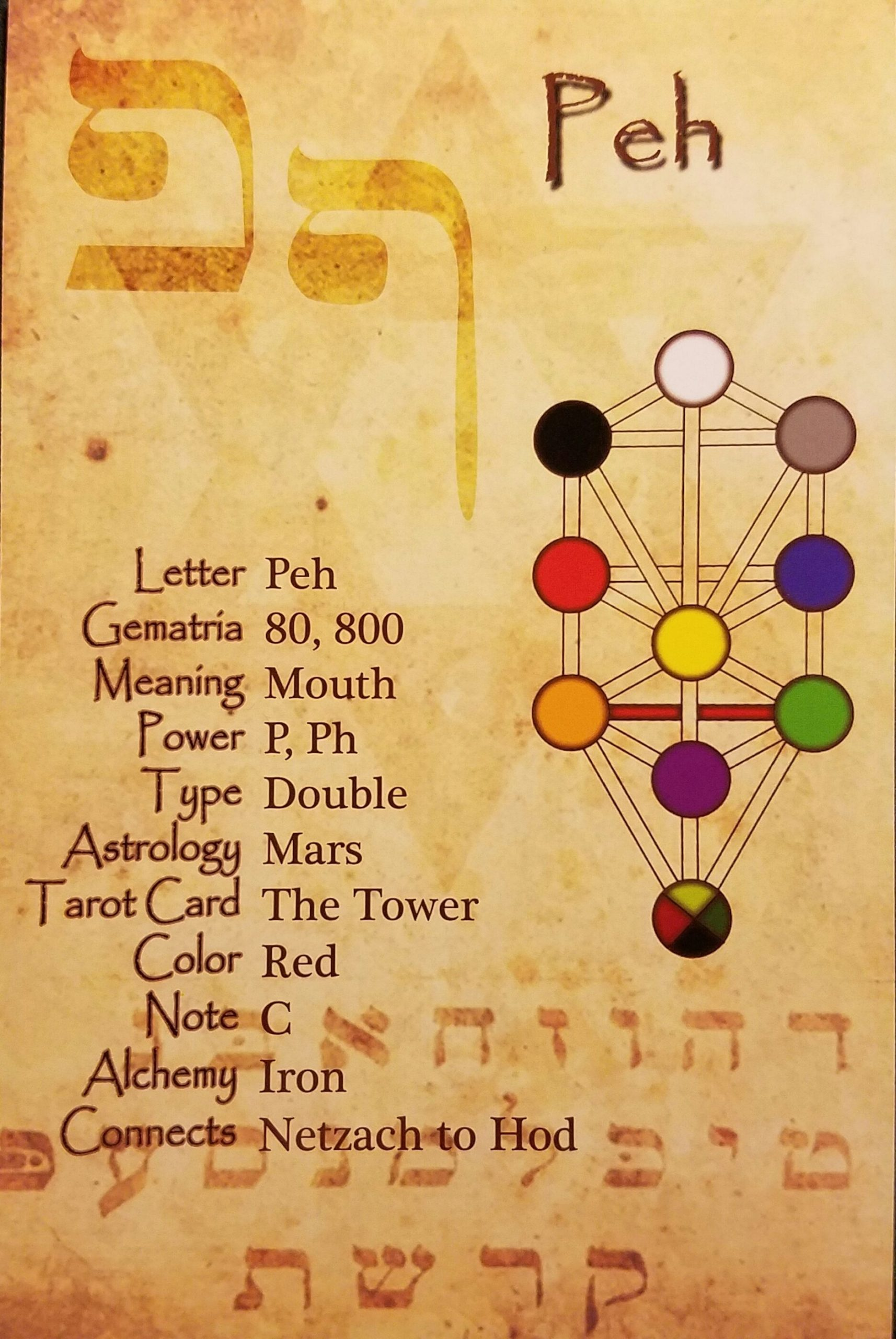 Get Hebrew Letters 12 Zodiac Signs Tarot