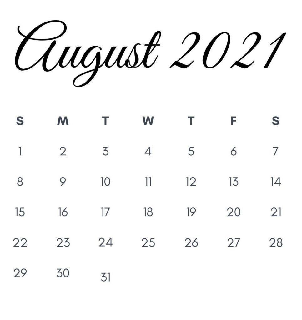 Get Imom August 2021 Calendar