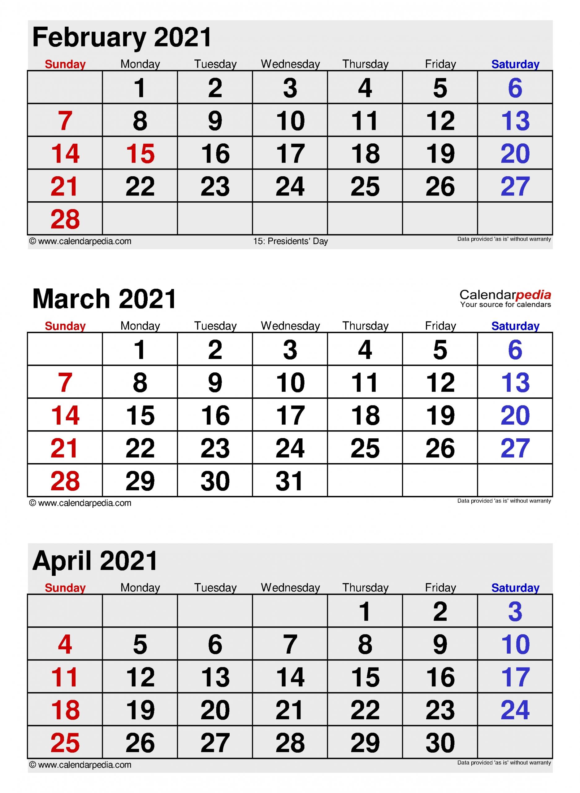 Get Jan Feb Mar Apr Printable Calendar 2021