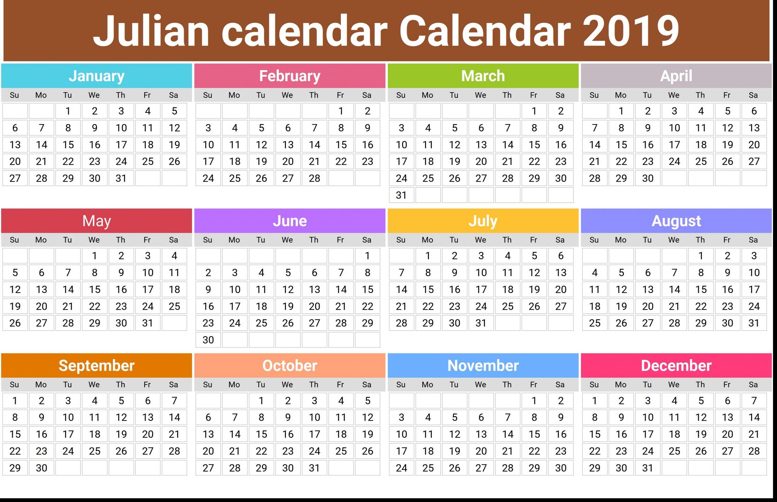 Get Julian Calendar Date Today