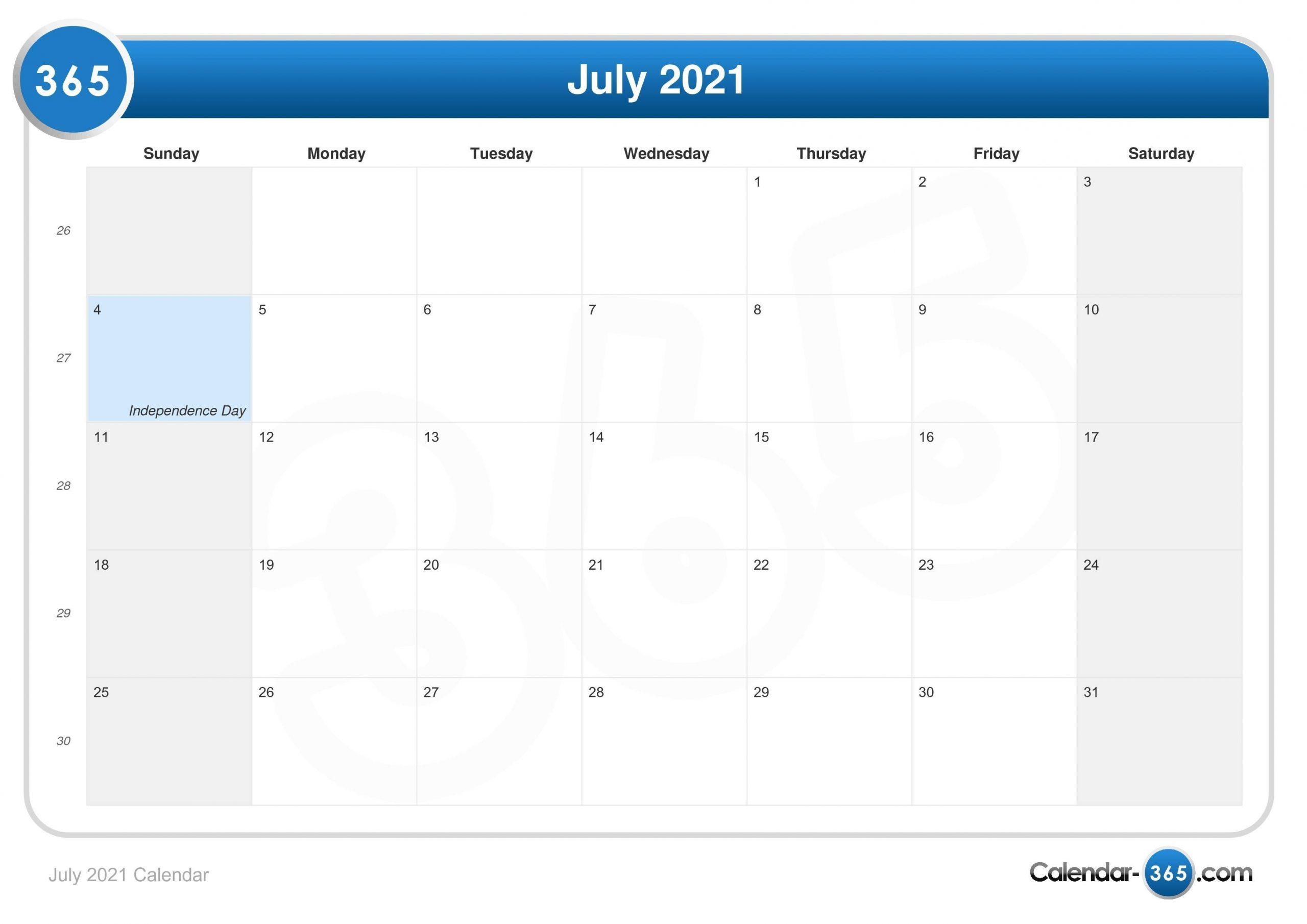 Get July 22 To September 30 2021 Calendar