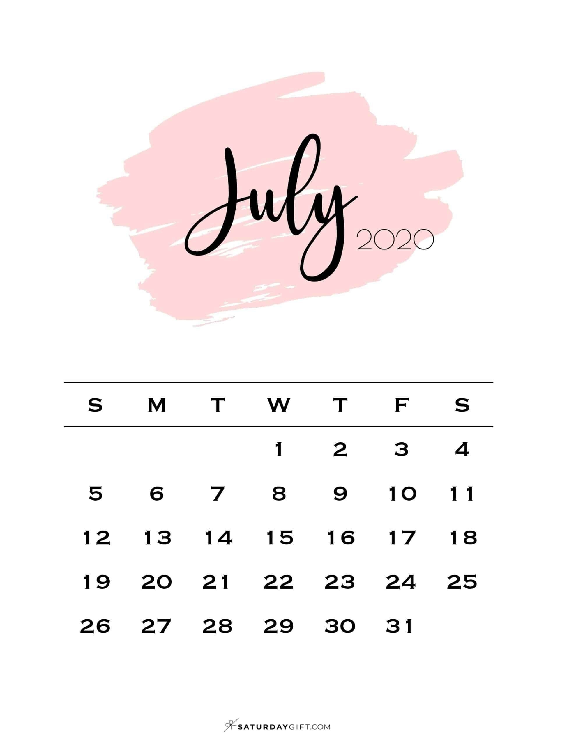Get July Calendar Free Screensavers 2021
