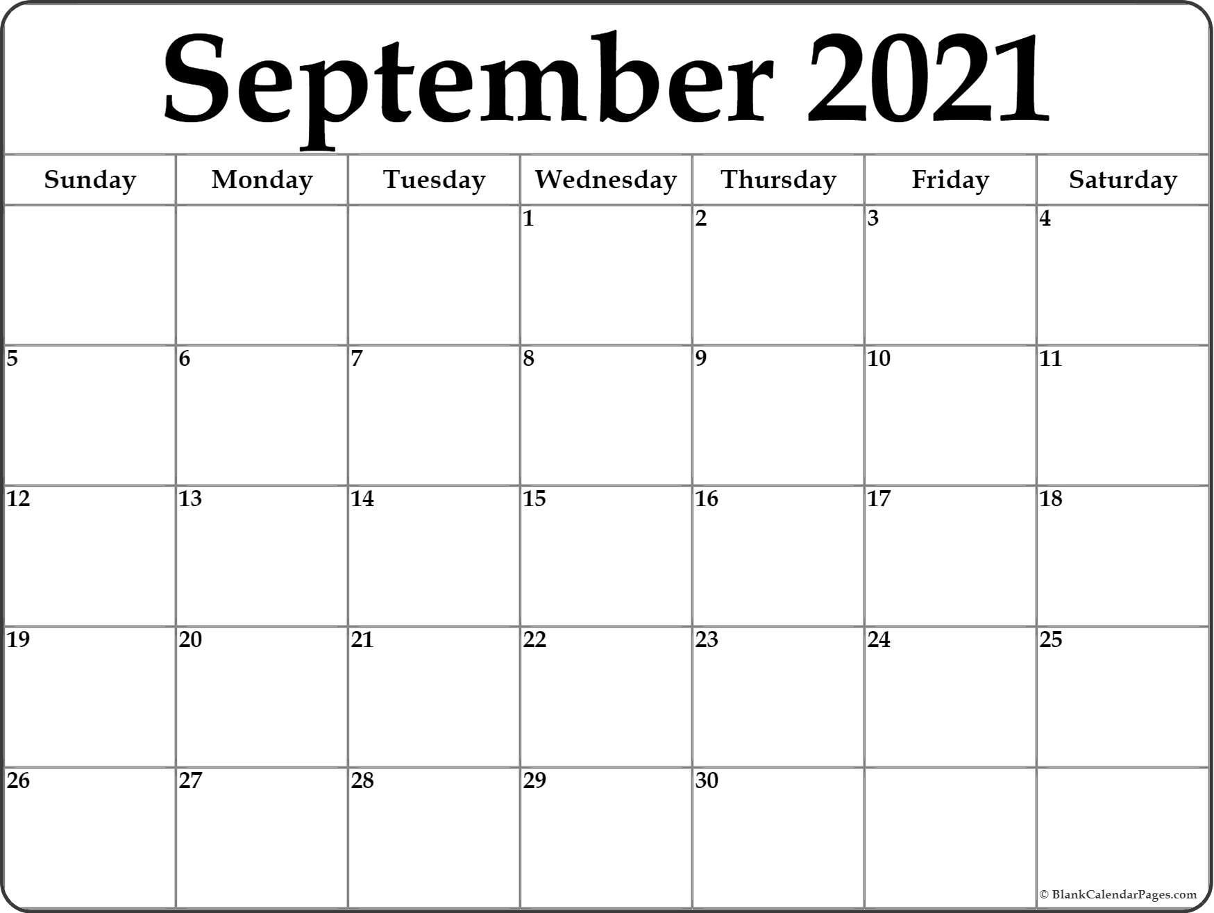 Get June – September 2021 Calendar Printable Free