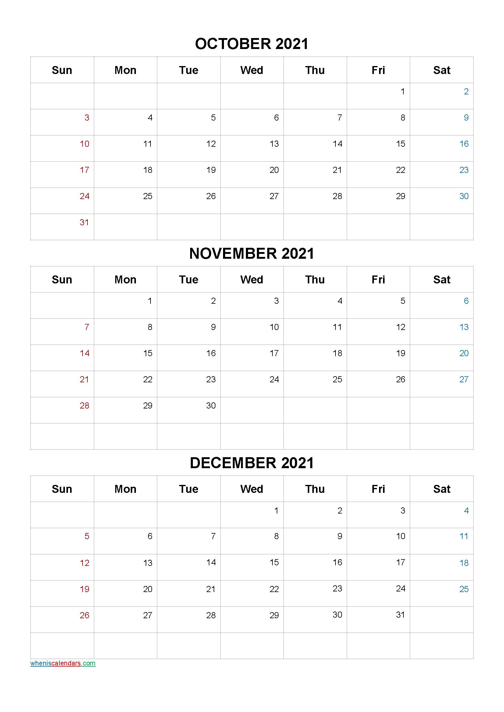 Get Kalander Oktober November December 2021
