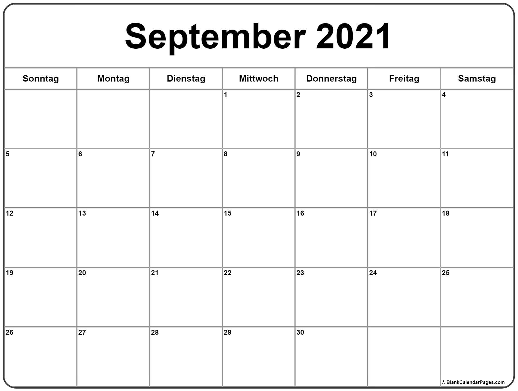 Get Kalender 2021 August September