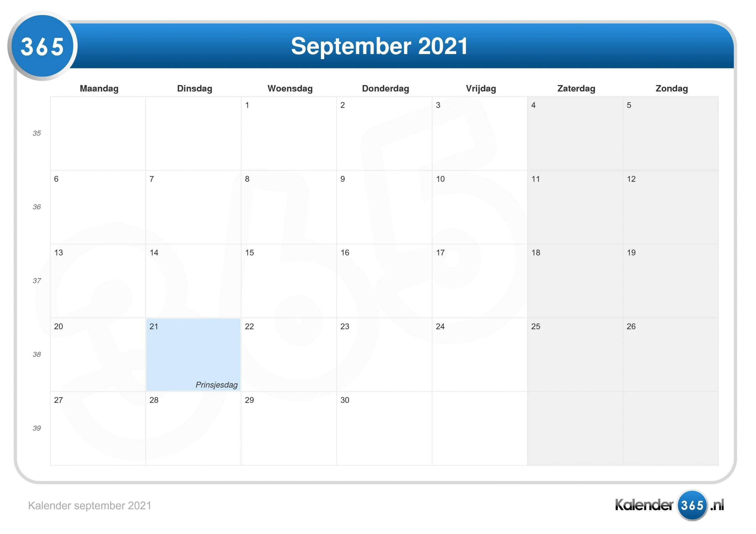 Get Kalender 2021 Augustus September