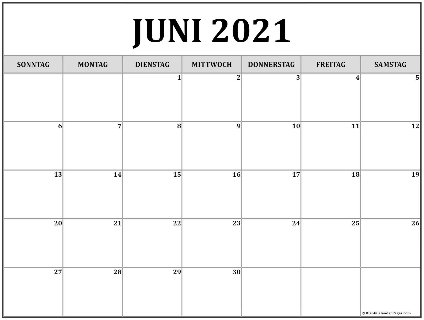 Get Kalender 2021 Juni