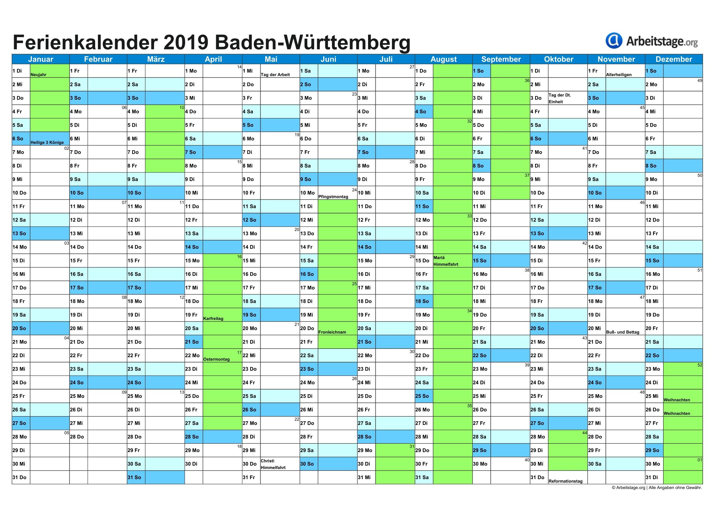 Get Kalender 2021 Zum Ausdrucken Kostenlos Baden Württemberg