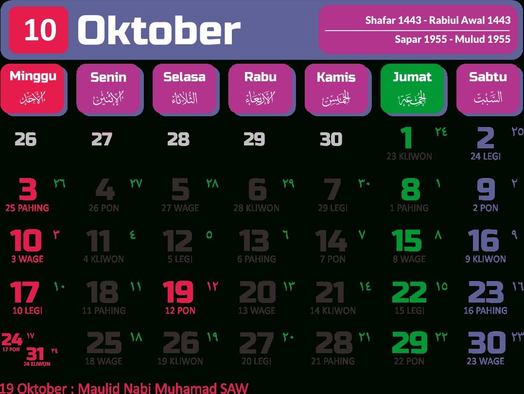 Get Kalender Oktober 2021