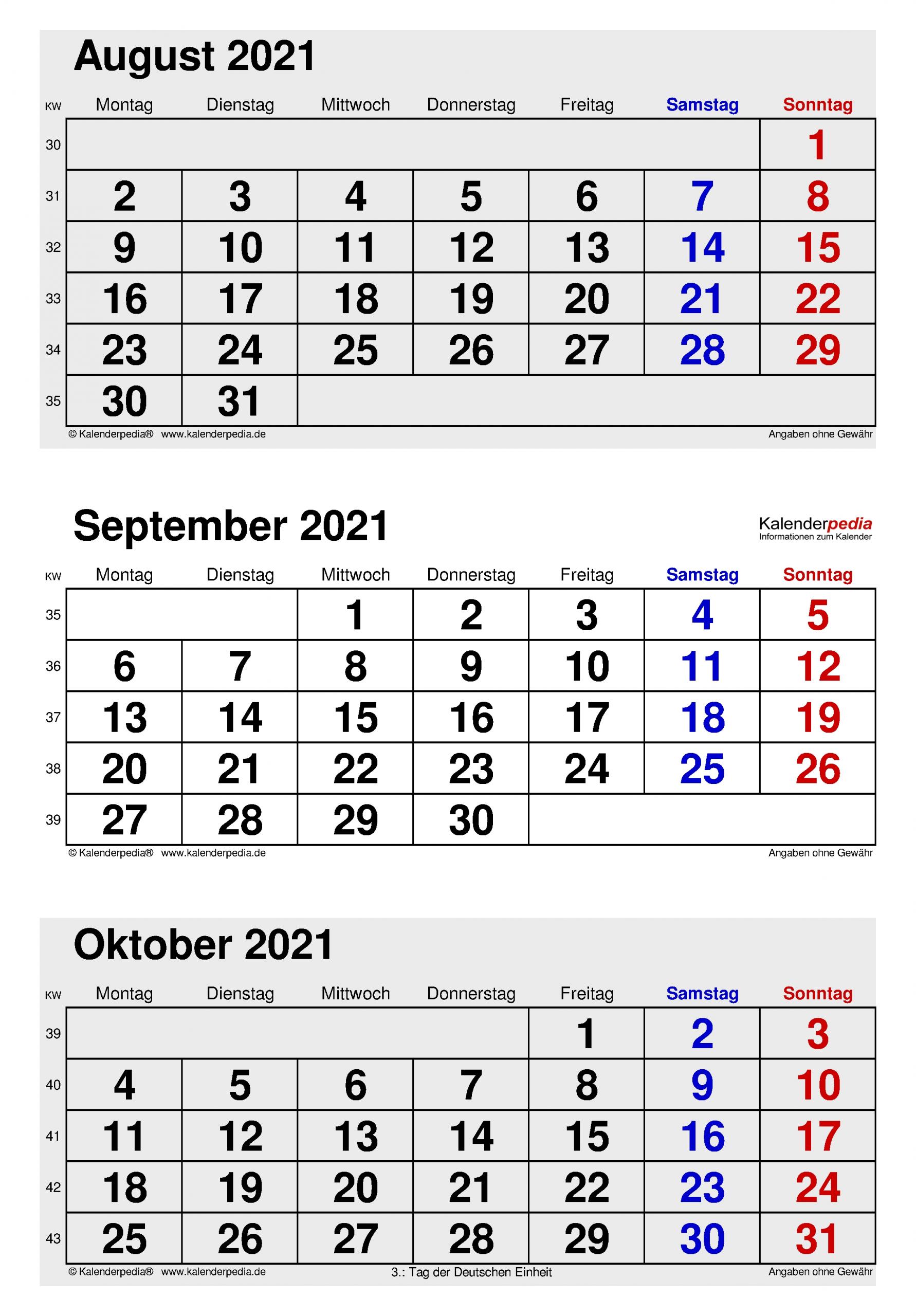 Get Kalender September Oktober November Dezember 2021