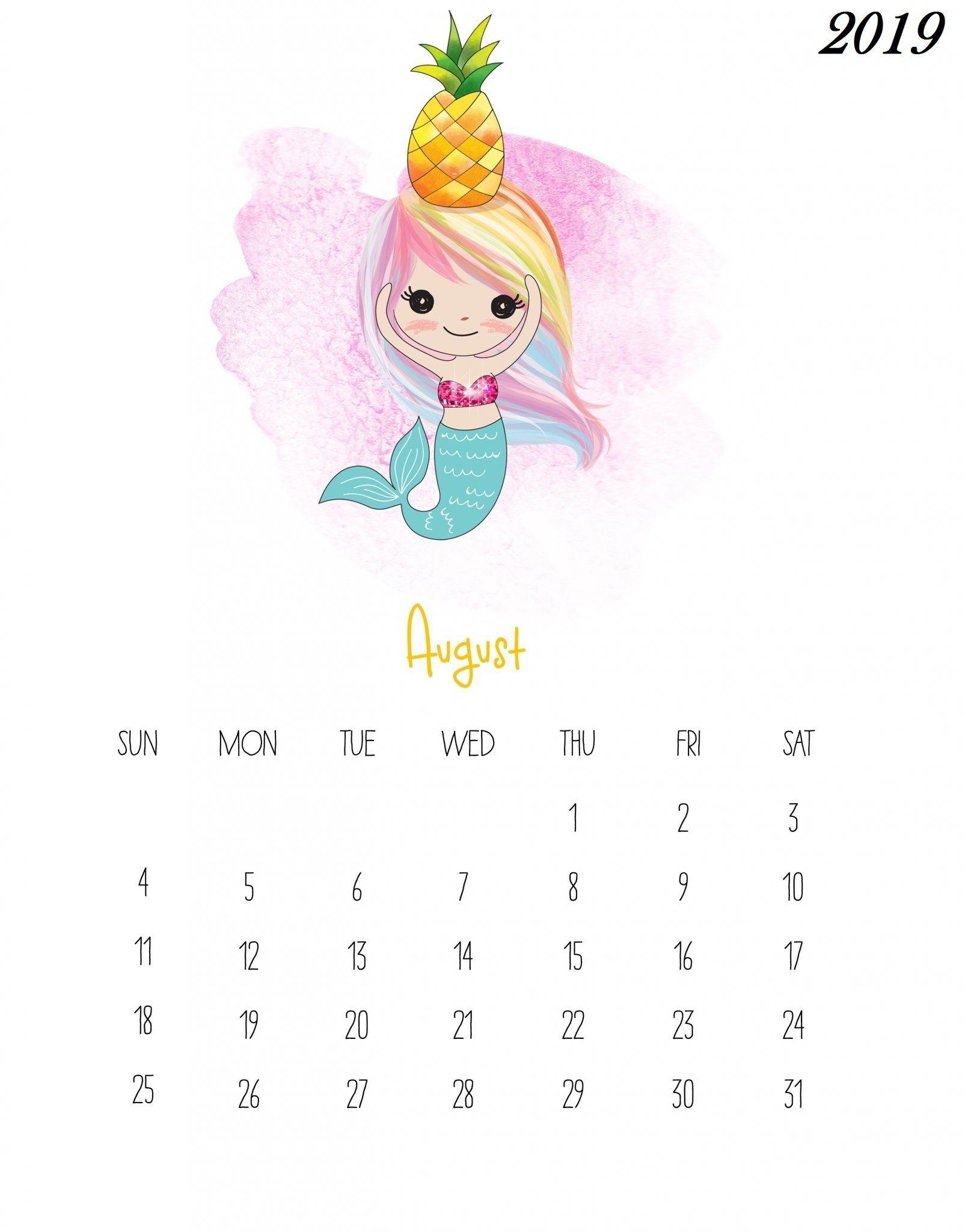 Get Kids August Calendar