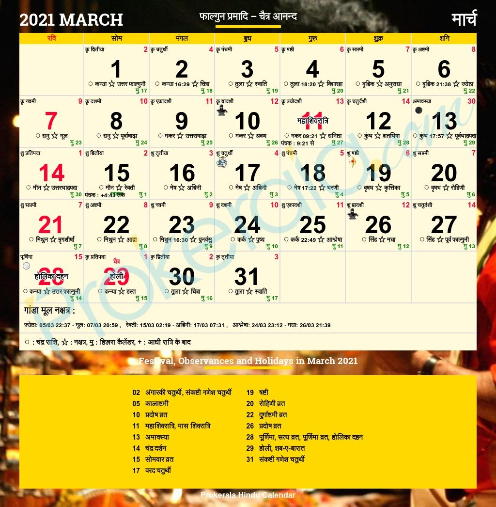 Get Kishor Jantri Panchang 2021
