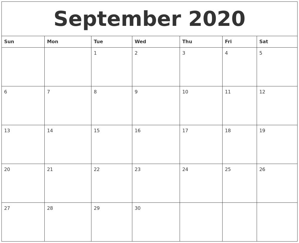 Get Large Blank Monthly Calendar Template