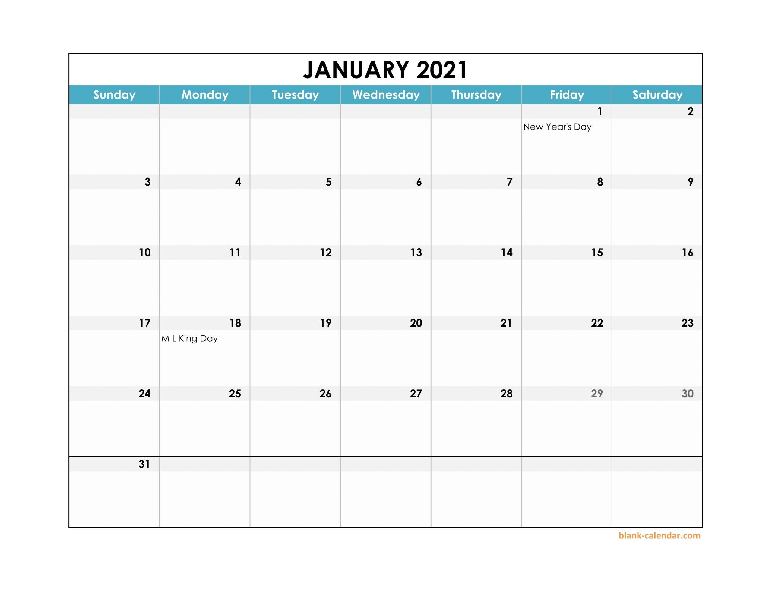 Get Large Box For Calendar 2021