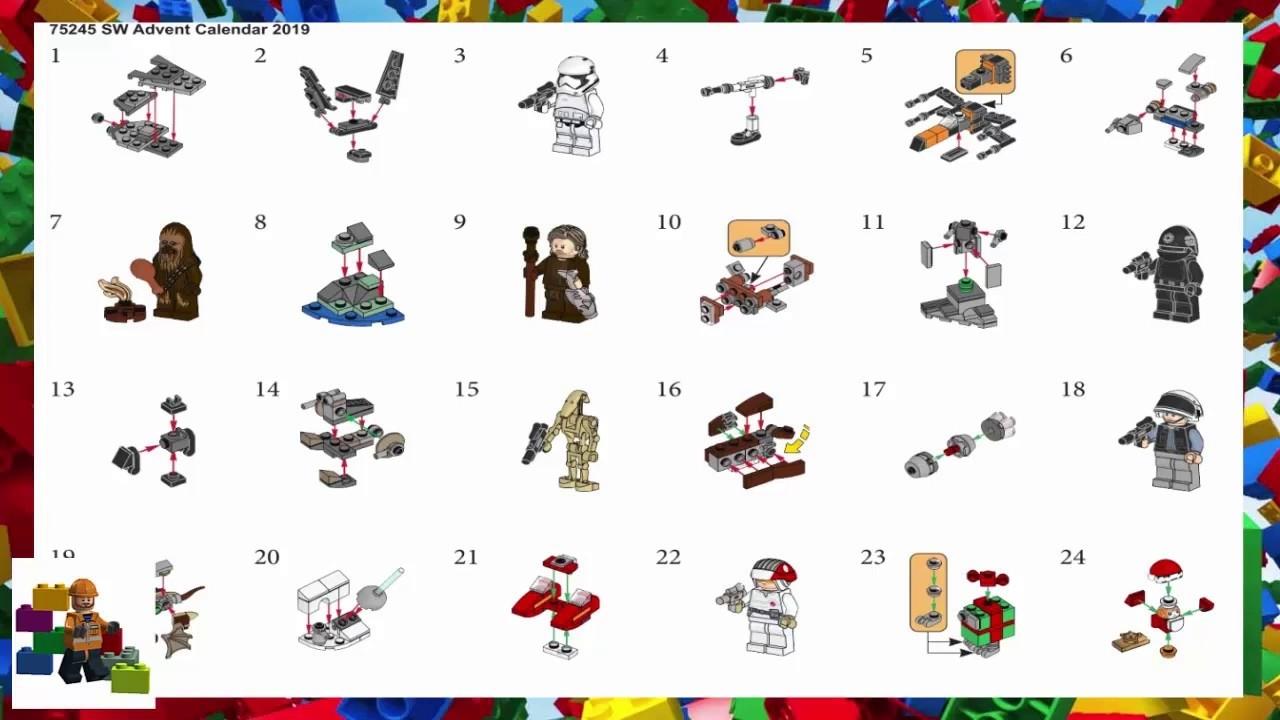 Get Lego Star Wars Advent Calendar 2021 Instructions