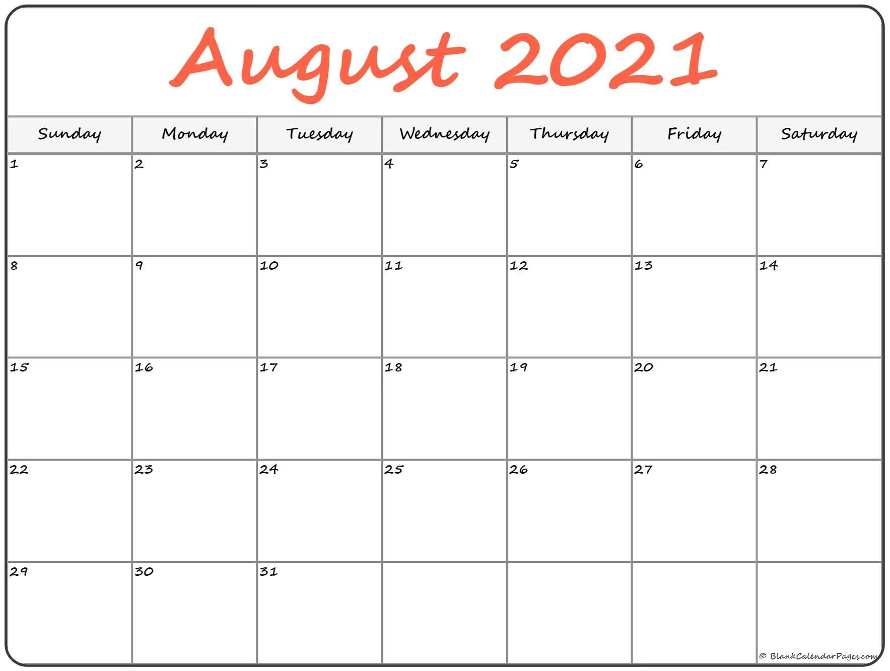 Get Leo August 2021 Calender