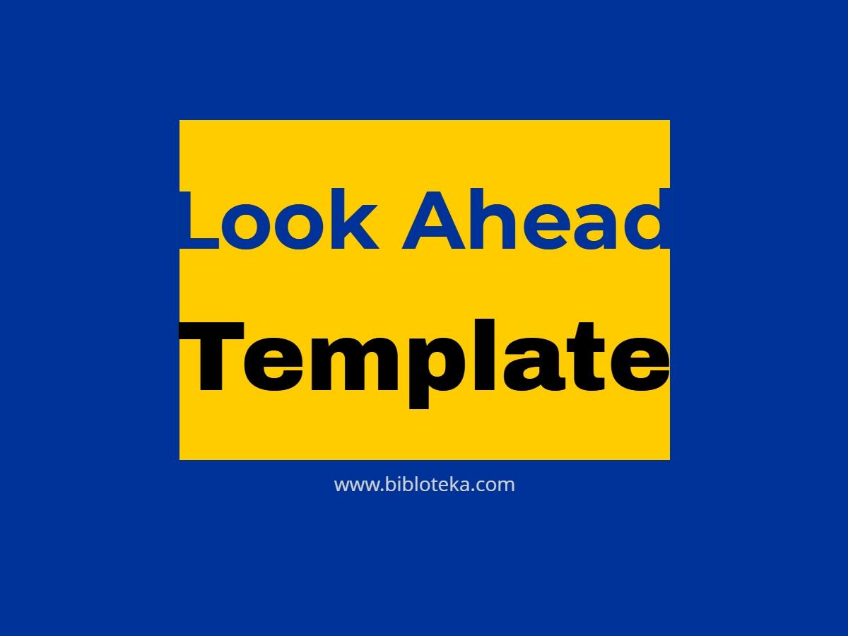 Get Look Ahead Plan Templets