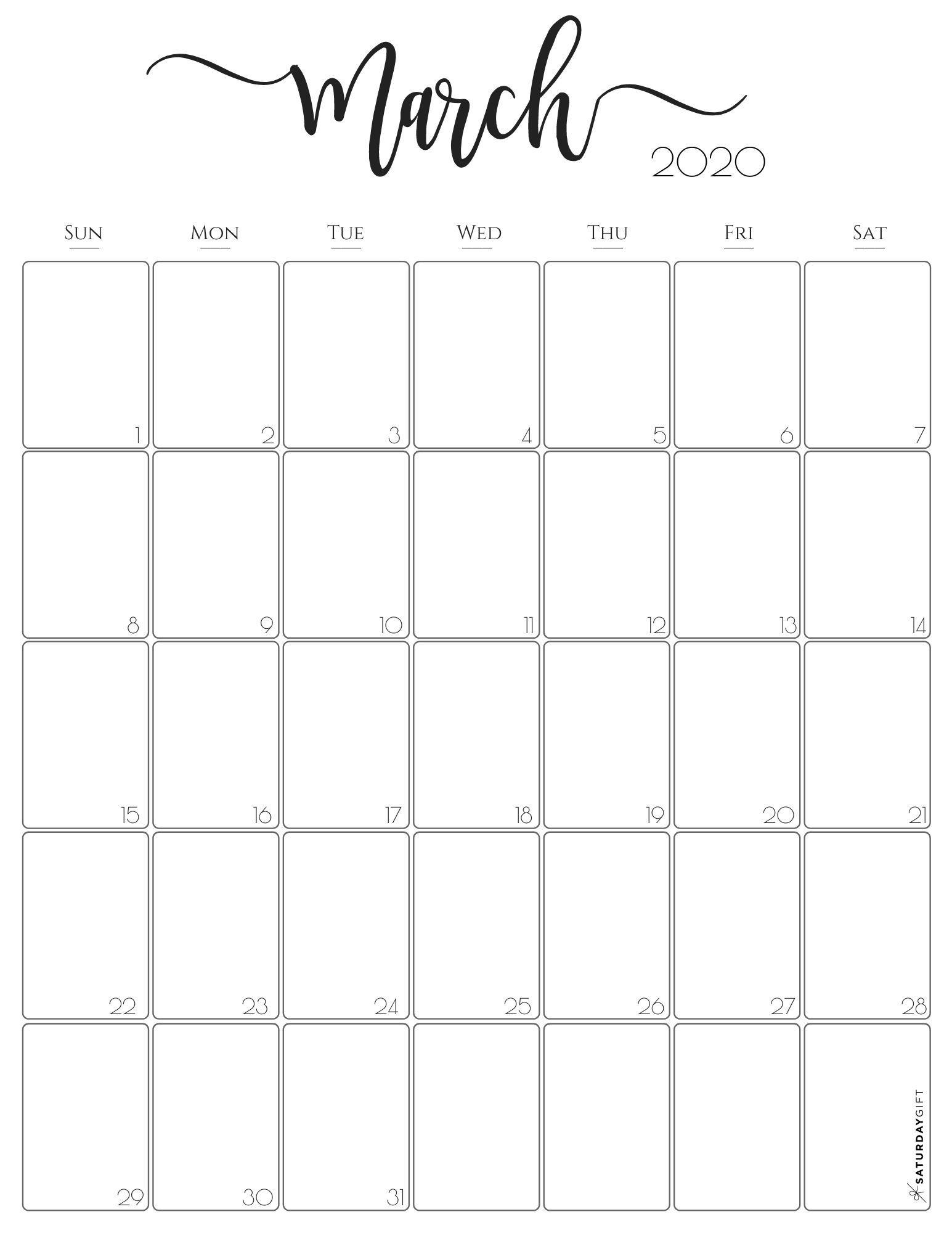 Get Monthly Calendar Printable 8X11