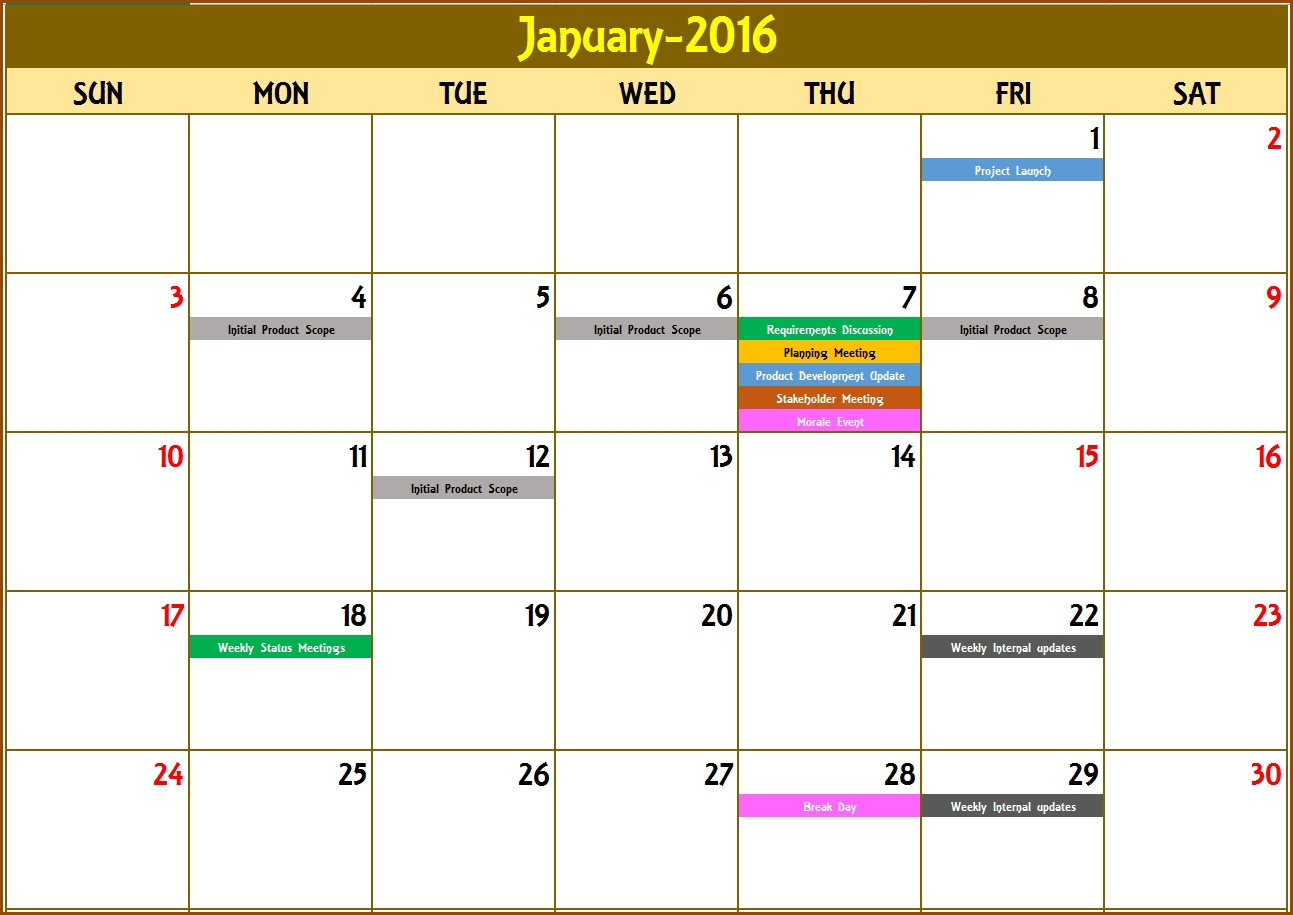 Get Monthly Editable Calendars