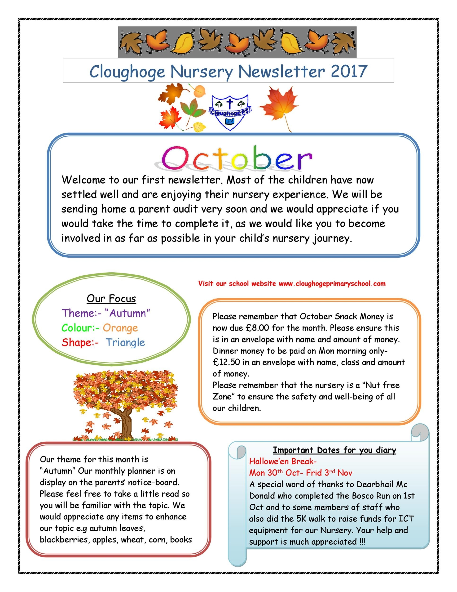 Get Newsletter For Class 1St