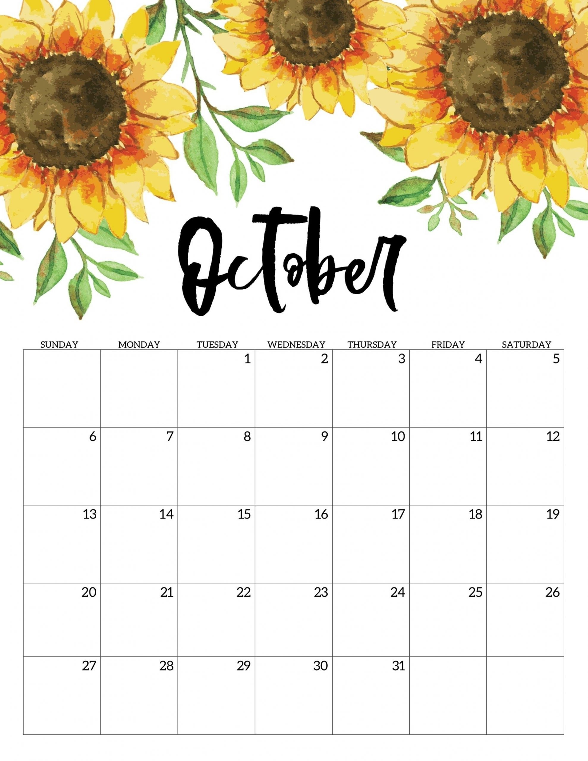 Get No Download Free Printable Calendar