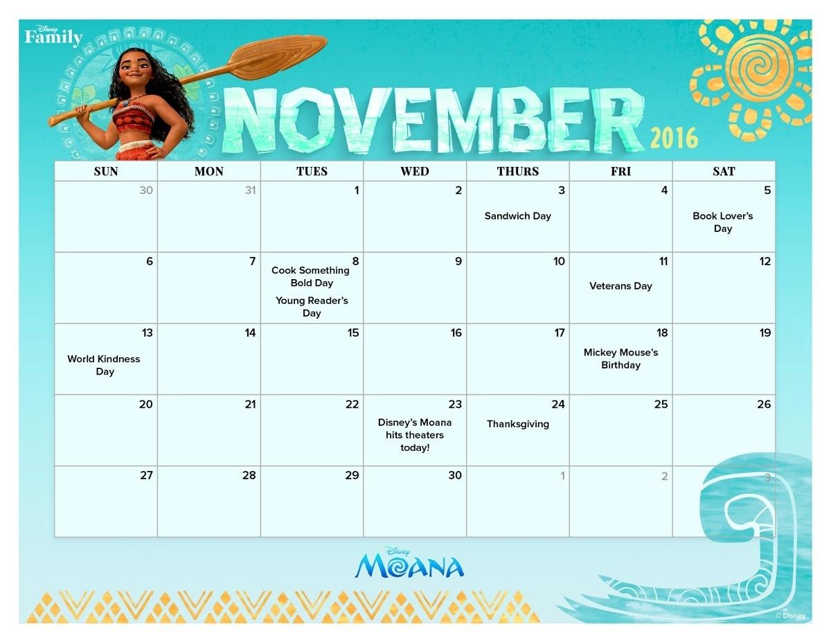 Get November 2021 Caendar Printable Disney