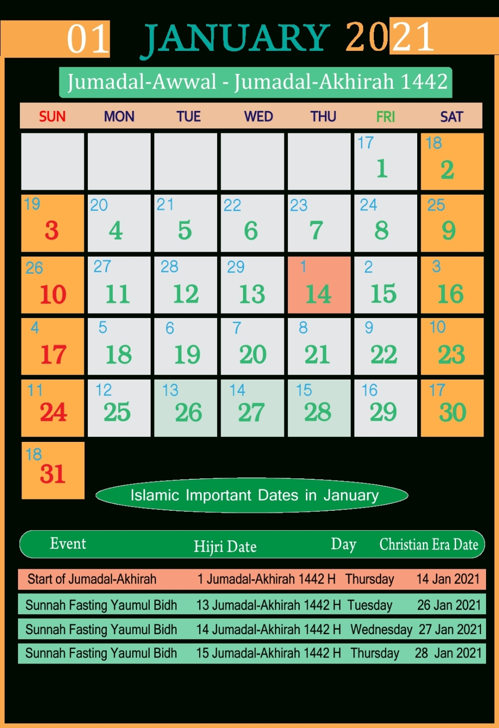 Get November 2021 Calendar India