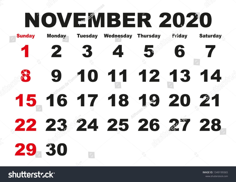 Get November Calendar Clip Art