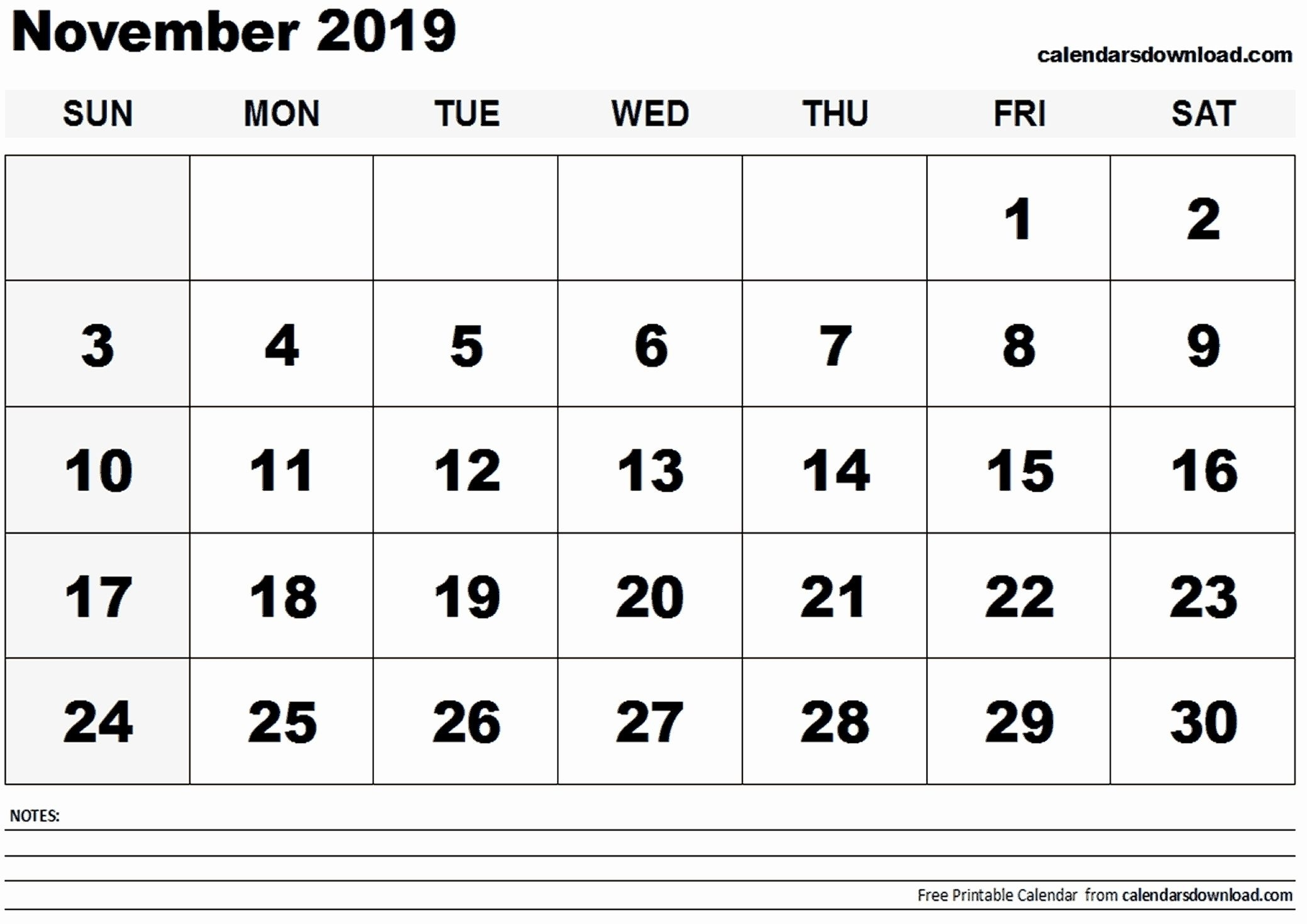 Get November Calender Full Size