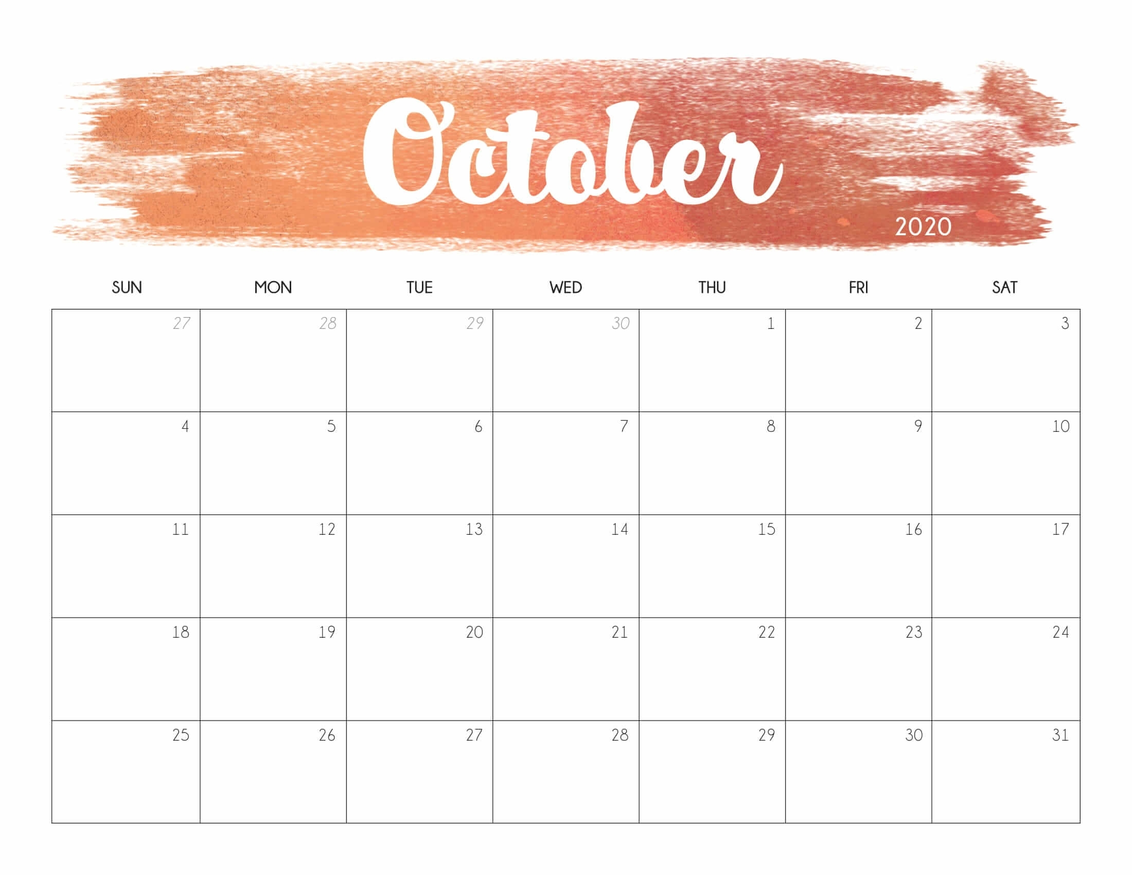 Get October Outlook Calendar
