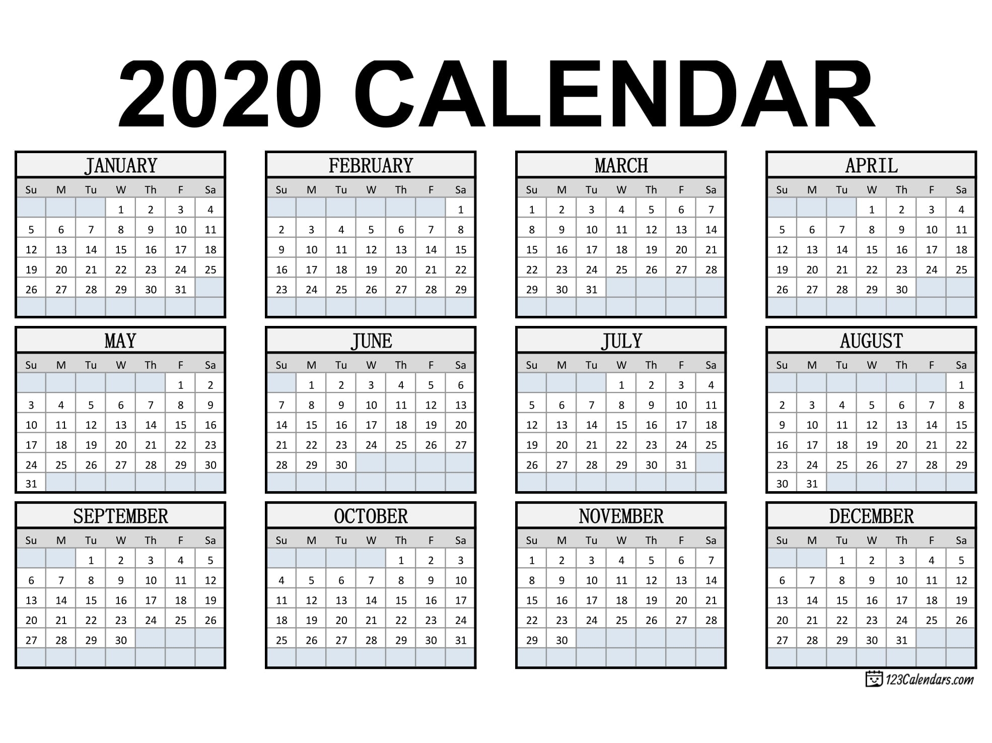 Get Pocket Calendar Printable