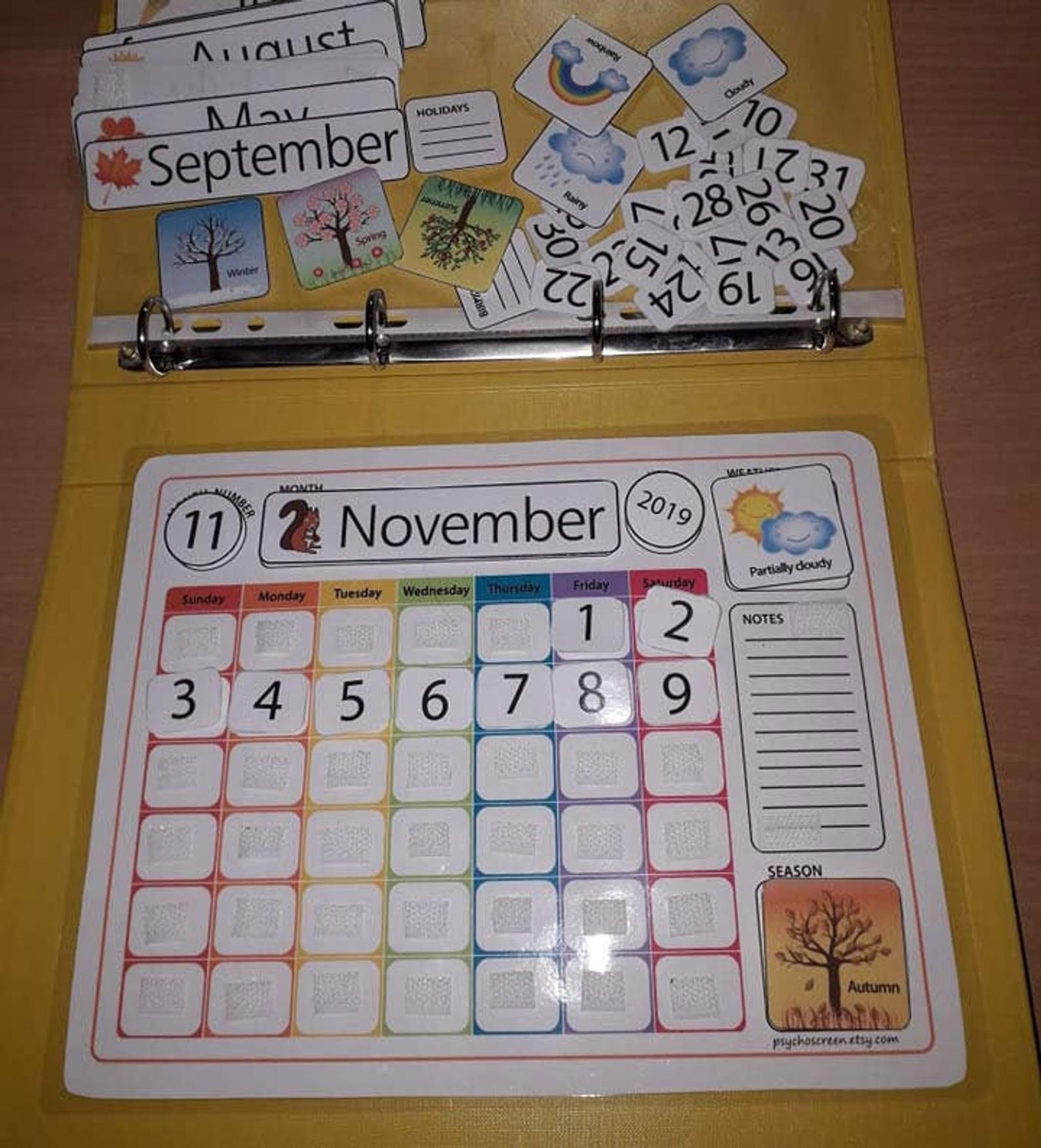 Get Preschool Numbers To Put On A Calendar For August 1 31